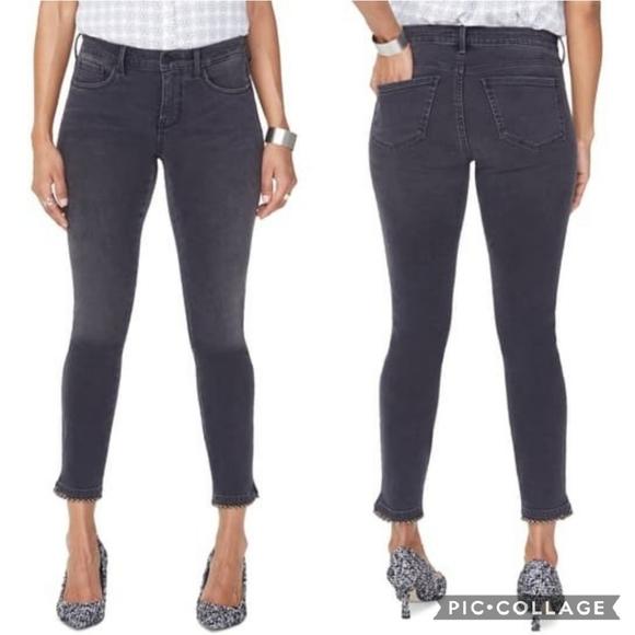 NYDJ Skinny Ankle Jeans with Ball Trim